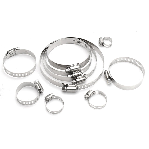 10Pcs 6mm-114mm Stainless Steel Hose Pipe Clips Clamps Fasteners Assorted #4