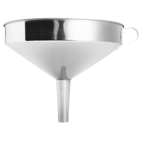 10-24cm Stainless Steel Wide Mouth Liquid Water Oil Funnel Kitchen Filter Tool