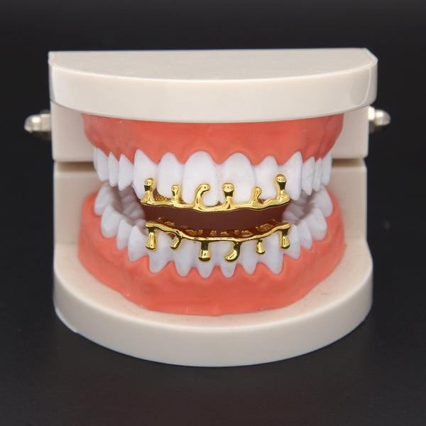 Trendy Copper Teeth Drip Lower Bottom Cap Tooth Caps 02