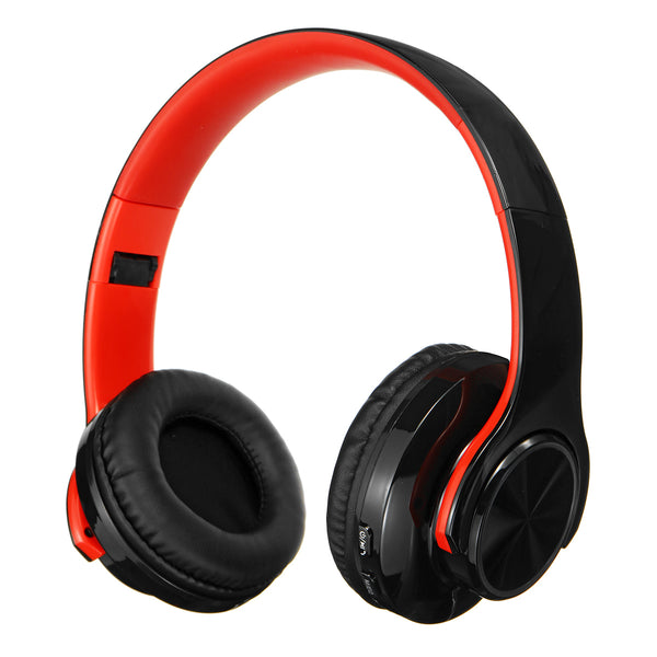 Foldable Wireless bluetooth V5.0 Headset LED Breathing Light Gaming Headphone Support FM Radio TF Card