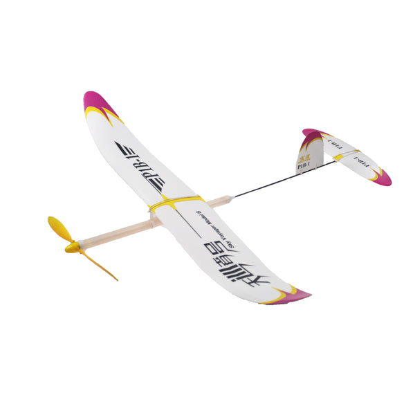 P1B-1 Rubber Band Powered Airplane Hand Launch Level Elastic Powered RC Aircraft DIY Assembly Sky Voyager