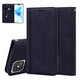 Enkay for iPhone 12 Pro Max Case Business Magnetic Flip with Card Slot Stand PU Leather + TPU Full Cover Protectrive Case-Dark Blue