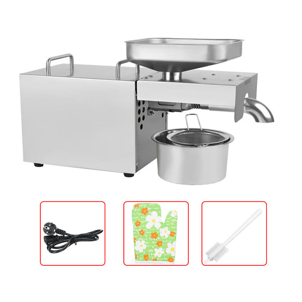 220V/110V Stainless Steel Automatic Oil Press Machine Seeds High Oil Pressing EU/US Plug 220V AU Plug