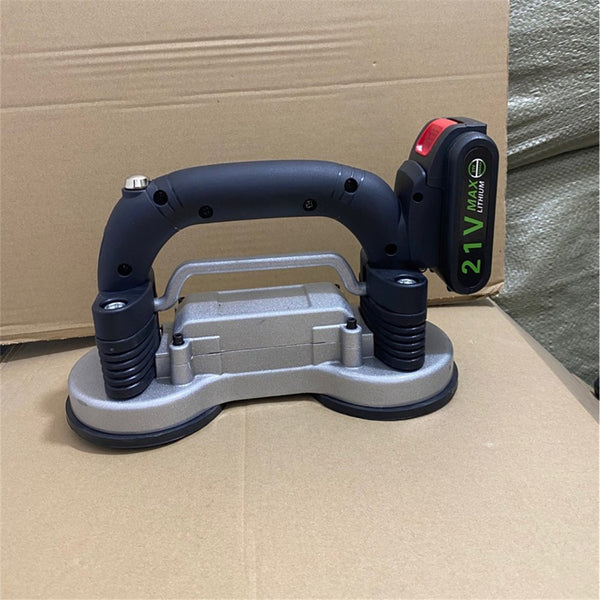 21V 800W Tiling Tiles Machine Tiles Vibrator Suction Cup Adjustable Automatic Floor Vibrator Leveling Tool With Battery-US Plug/One Battery