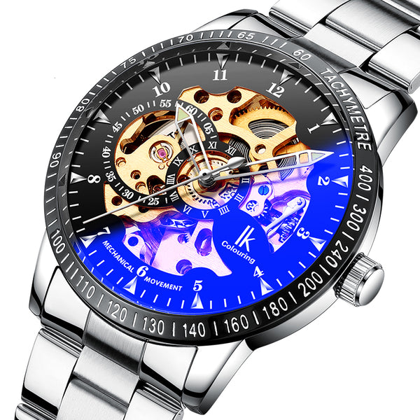 IK COLOURING 98226G Skeleton Dial Automatic Mechanical Watch NO.1