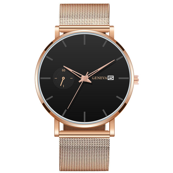 GENEVA Men Decorative Small Dial Date Display Fashion Men Quartz Watch NO.2