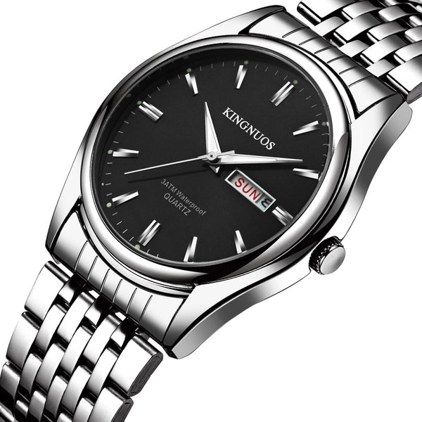 Full Steel Men Business Style Casual Dial Quartz Watch NO.2