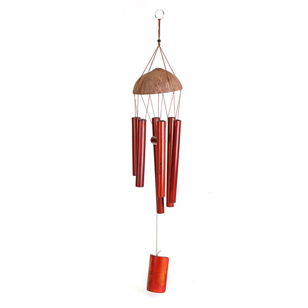 Creative Bamboo Wind Bell Chimes Handmade Natural Ring Home Decor Wind Chime Outdoor Yard Hanging Ornament