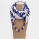 Bohemian Printed Chiffon Multi-layer Necklace Handmade Beaded Tassel Pendant Scarf Necklace 07