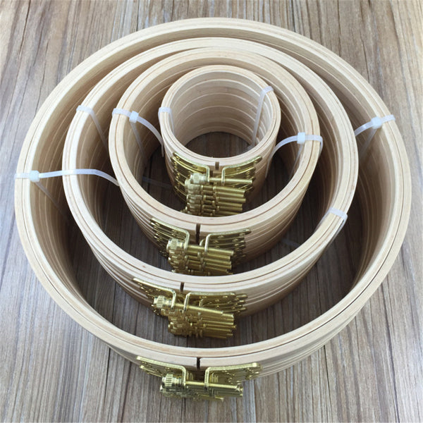 7 Size Wooden Embroidery Hoops Cross Stitch Sewing Tools Craft Ring Frame Machine Tool 25cm