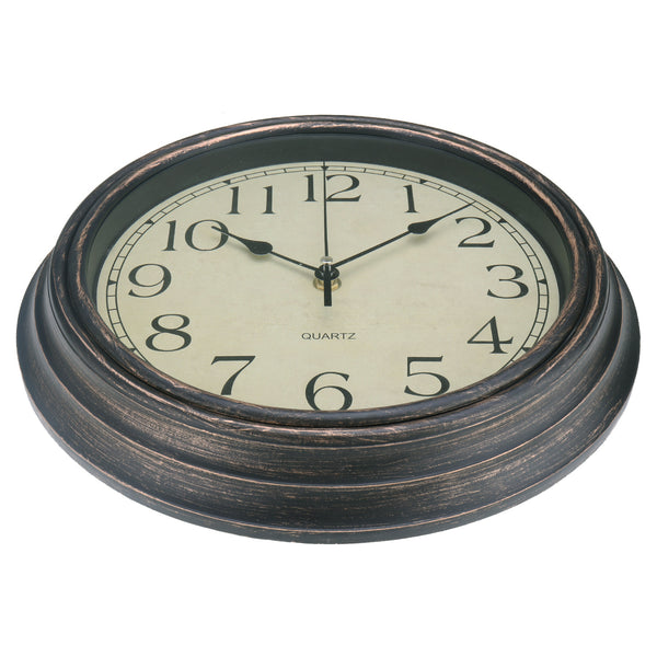 12'' Wall Clock Modern Vintage Rustic Wooden Home Kitchen Silent Quartz