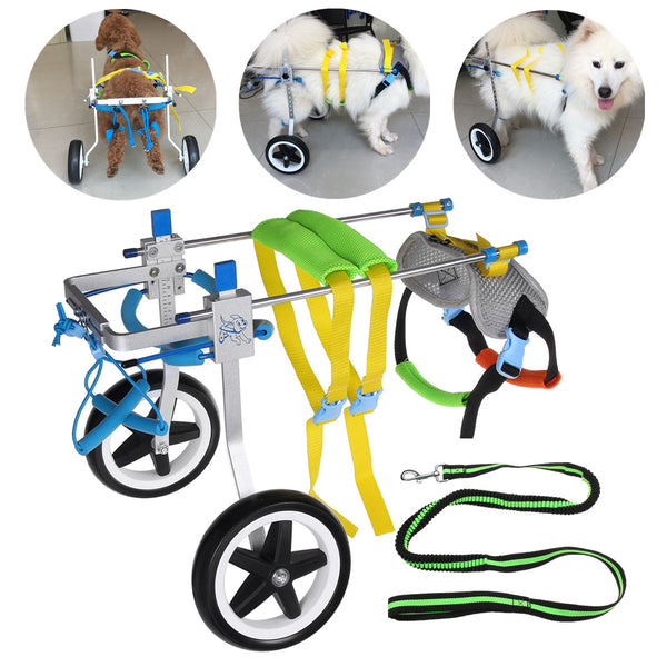 "7.5"" Aluminium Pet Dog Wheelchair Walk Assistant Tool Cart For Handicapped Hind Leg"