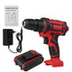 6000mAh 48V Electric Drill 3 In 1 Electric Impact Power Drill-EU Plug/Two Batteries