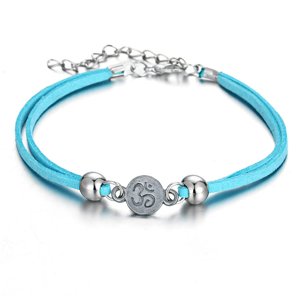 Unisex Ethnic Alloy Hollow Tree Multilayer Anklets Bracelet Colorful