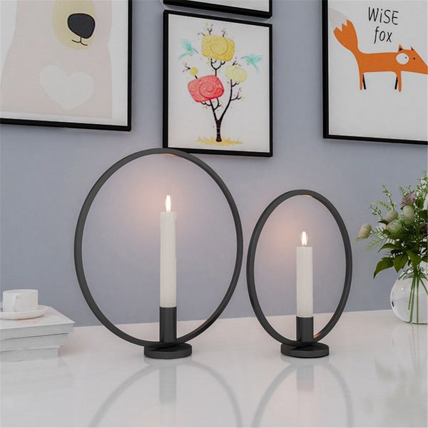 3D Geometric Nordic Style Wall Candle Holder Metal Candlestick Home Decor
