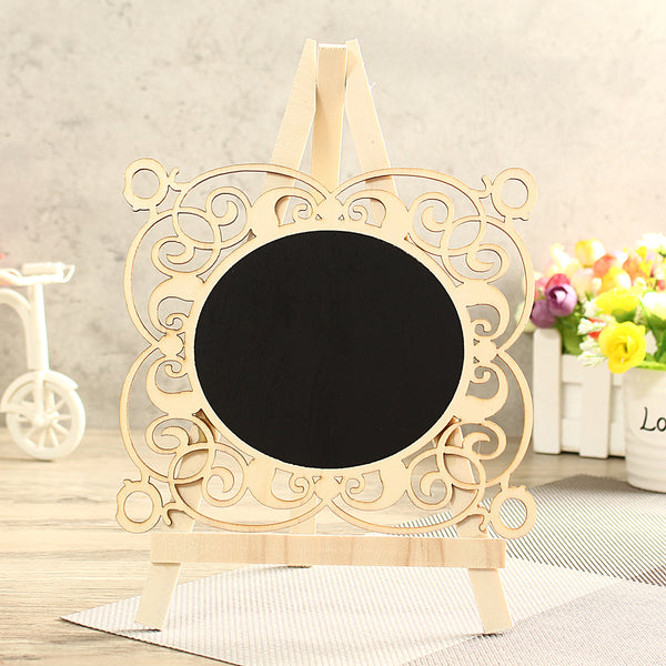 Mini Vintage Wooden Blackboard Table Number Signs Message Memo Chalk Board Party Decorations