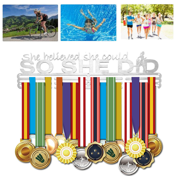 Stainless Steel Medal Holder Hanger Display Rack For Sport Running Swimming Decorations S