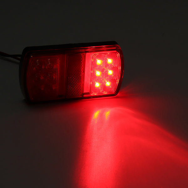 3PCS 6000K LED Car Tail Light Number Plate Light Waterproof Lamp for Truck Trailer Boat