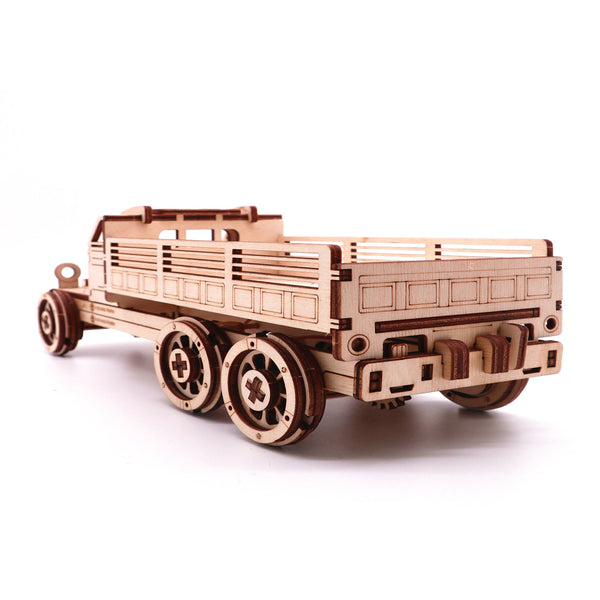 Self Assembly Wooden Truck Birch Truck Model Gift Children Science Model Building Kits
