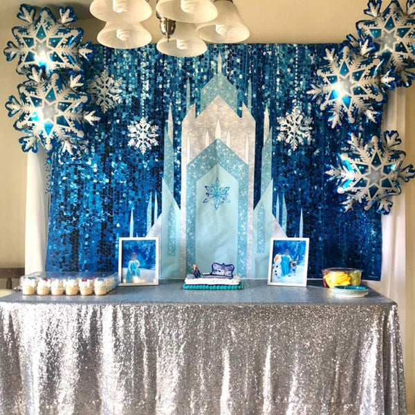 8x6ft 7x5ft 5x3ft Vinyl Cloth Romantic Ice Castle Photography Background Studio Photo Props Backdrop for Wedding Birthday Party