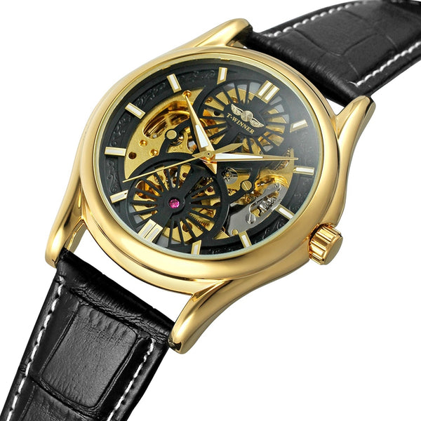A3 Genuine Leather Strap Automatic Mechanical Watch NO.5