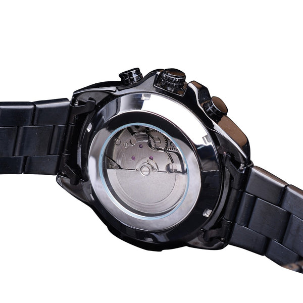 Forsining GMT1137 Fashion Men Watch Luminous Week Month Display Automatic Mechanical Watch NO.4