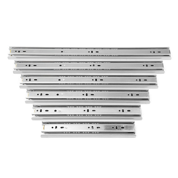 2Pcs 10-20Inch 45mm Full Extension Close Ball Bearing Drawer Runners Slides Cabinet Guide Rail Slide 16inch