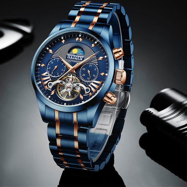 HAIQIN 8509 Fashion Full Steel 3ATM Waterproof Automatic Mechanical Watch NO.2