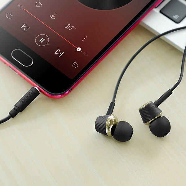 HOCO M70 Universal Wired Control HiFi In-ear Earphone with Mic for Mobile Phones PC Laptop
