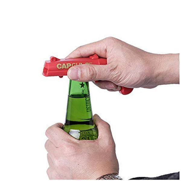 Three Colors ABS Creative Cap Launcher Shooter Bottle Opener Magnetic Drink Opener for Home Party Drinking