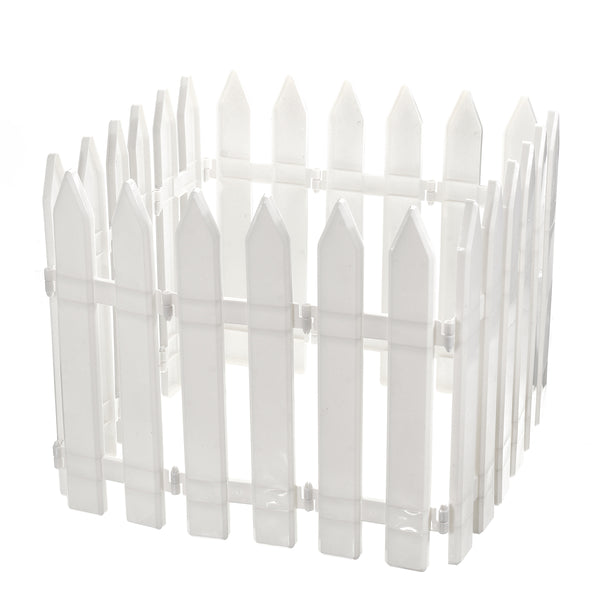 12PCS Plastic Fence Decorations White Home Christmas Xmas Tree Ornaments Miniature Border Grass Lawn Edge Fence