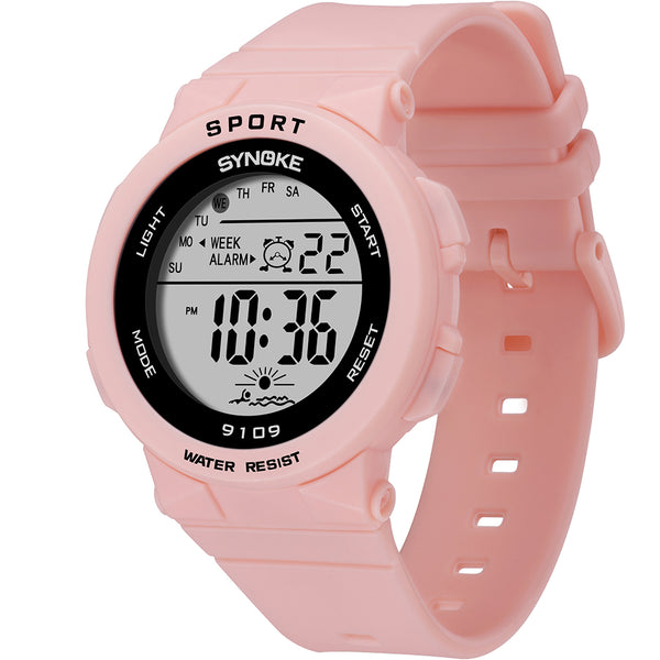 SYNOKE 9109 Children Watch 5ATM Waterproof Luminous Display Student Outdoor Sport Digital Watch Black