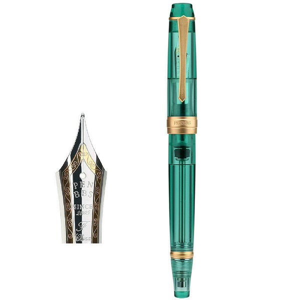 Penbbs 456 Resin Transparent Quality Negative Pressure Fountain Pen Fine 0.5mm Nib vacuum filling Student Writing Gift
