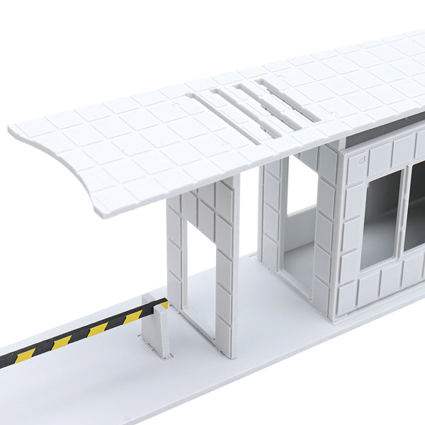 HO Scale 1/87 Community Factory Entrance Guard Security Room Building Model