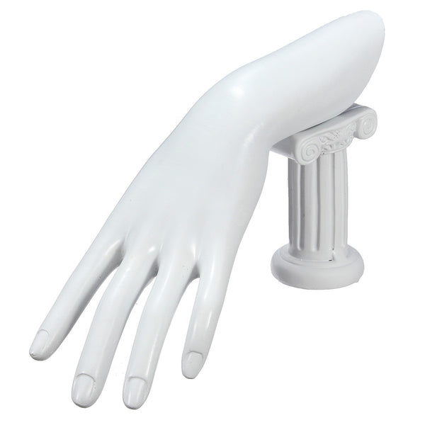 Resin Model Hand Fingers Jewelry Ring Bracelet Display Stand Holder White Resin