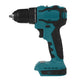 Dual Speed Brushless Electric Drill 10/13mm Chuck Rechargeable Electric Screwdriver for Makita 18V Battery-#1/Green