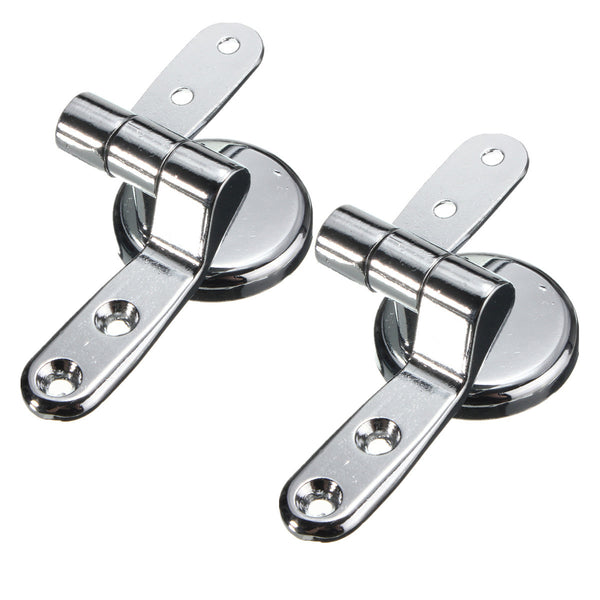 Zinc Alloy Universal Toilet Seat Fitting Replacement Repair Chrome Hinge Kit