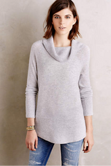 Lady with grey sweater