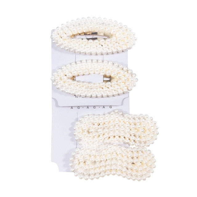 Strip Pearl Water Droplets Hair Clip Accessories Set