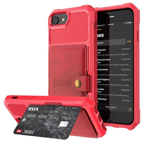 Retro Flip PU Leather Case For iPhone | Multi Card Holder Hard Cover Shell
