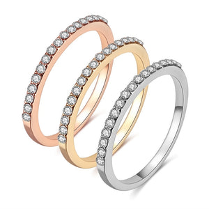 Single Row Drill Ring | Rose Gold