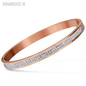 Round Cuff Bangle Bracelet in Gold, Silver, and Rose Gold
