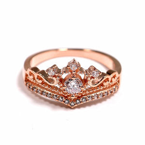 Zircon Alloy Handmade Crown Ring