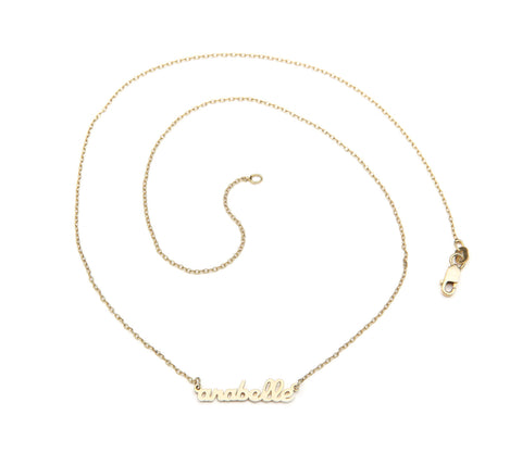Signature Collection: mini script name necklace