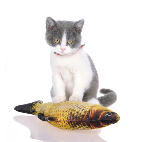 cuddly cat fish toy
