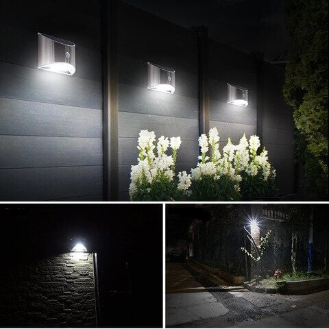 LED Solar Powered Security Light with Motion Sensor
