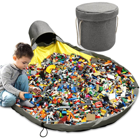 Foldable Toy Storage bag With Oversized Play Mat