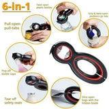 6 in 1 Multi Function Jar/Bottle Opener