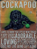 Vintage Cockapoo Tin Wall Art