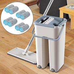 All in One Self Cleaning Microfiber Mop and Bucket